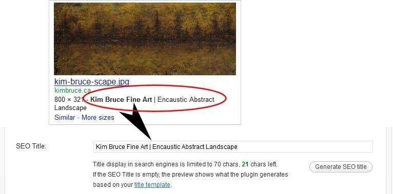 WordPress for Artsits SEO image example 2