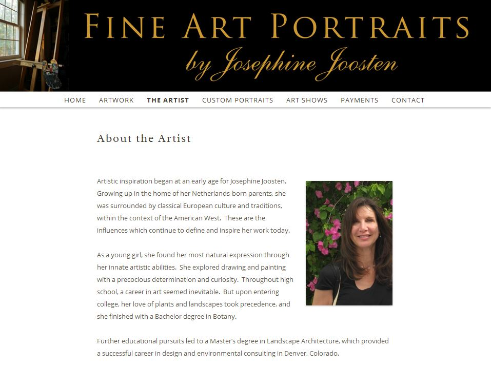 Artist about page content wordpress artist websites for Top websites for artists