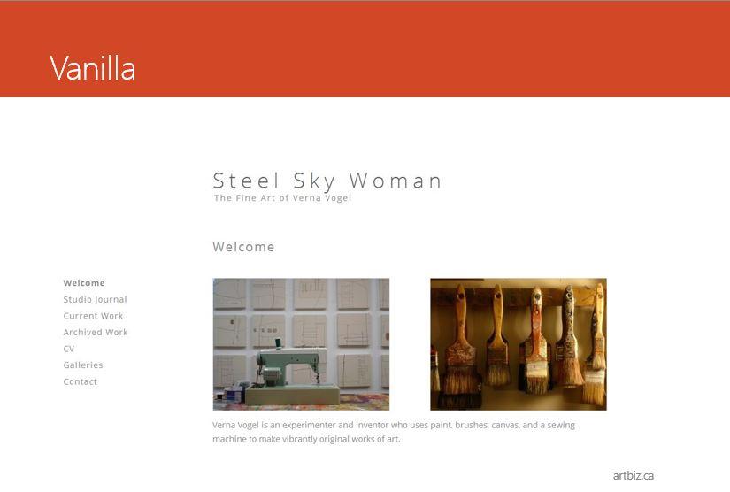 Vanilla fine art website