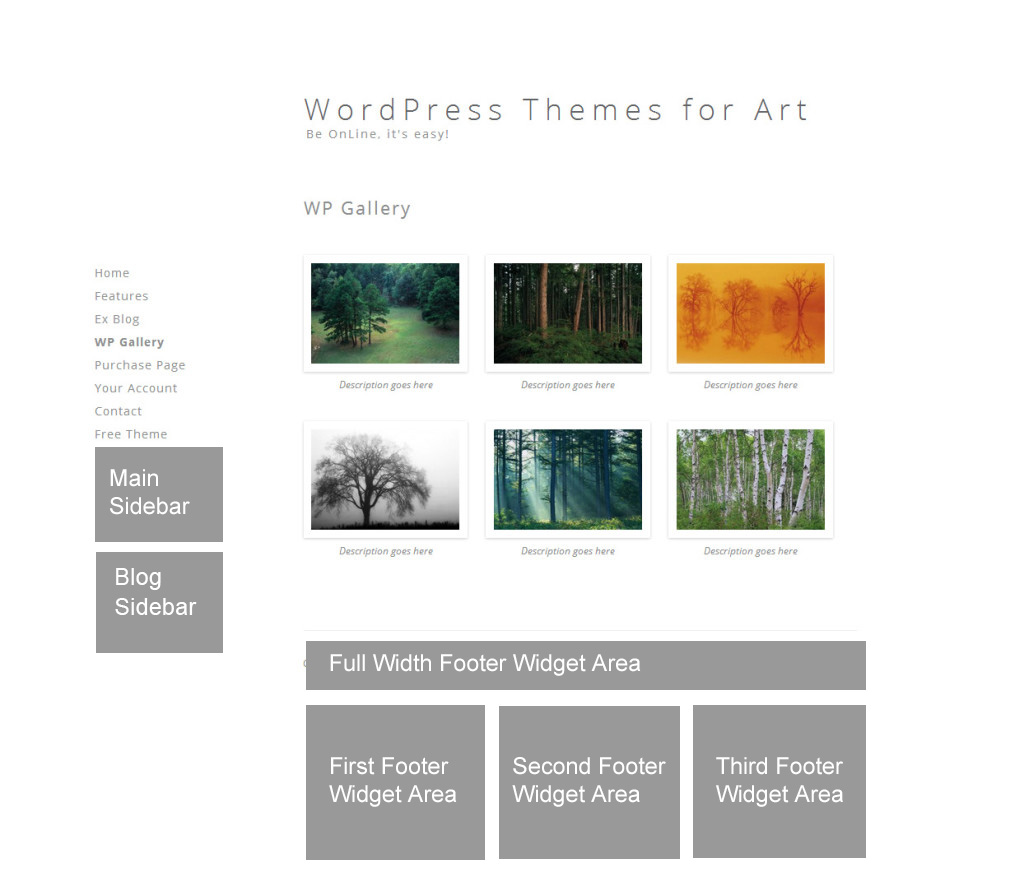 Widget areas for themes with vertical navigation