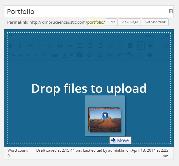 as of version 3.9 drag and drop images directly in the editor