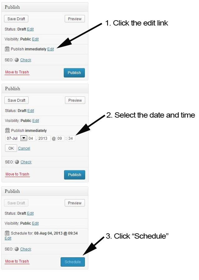 Schedule WordPress Posts to Auto Publish