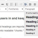 Using Web Page Heading Titles and Headlines