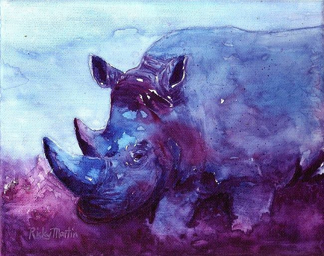 Blue Rhino Paintings by Ricky Martin