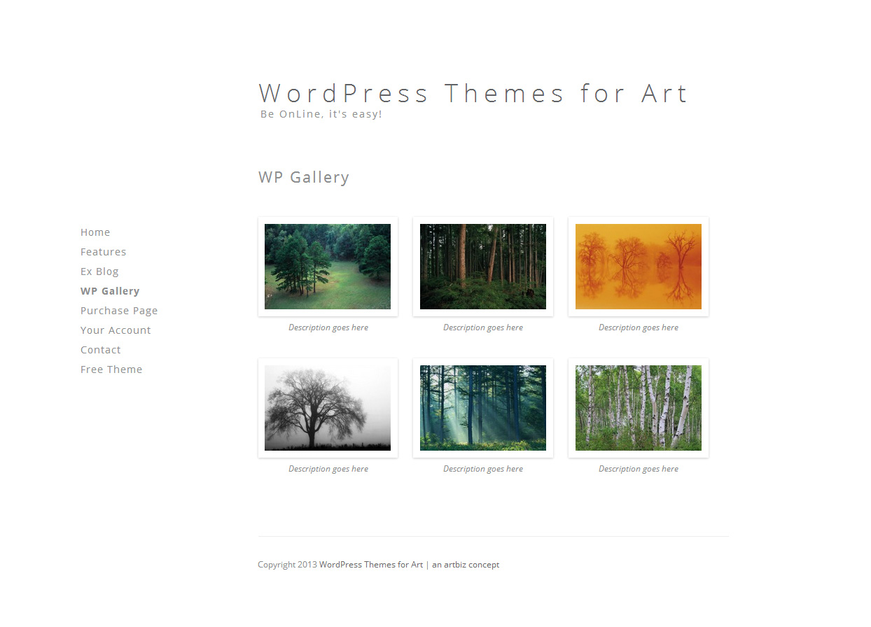Minimal Gallery WordPress Theme for Art and Photography